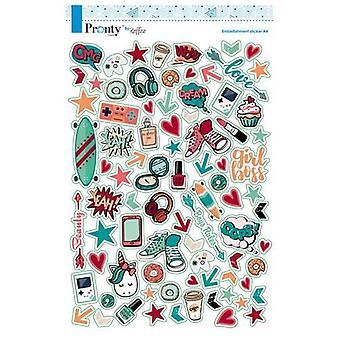 Pronty Scrap stickers A4 Pretty & Cool 491.100.001 By Raffzz