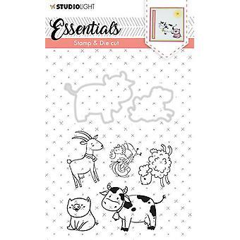 Studio Light A6 Stamp & Die Cut – Essentials Animals Number 32 Basicsdc32