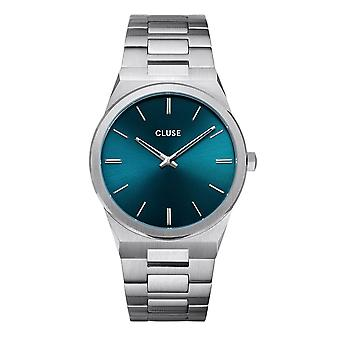 Cluse Watches Cw0101503003 Vigoureux 40 Petrol Blue & Silver Stainless Steel Men's Watch