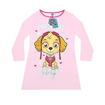 Paw Patrol Skye Pink Long Sleeved Girl's Night Dress