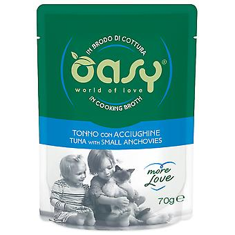 Oasy Tuna Pouch with Anchovies (Cats , Cat Food , Wet Food)