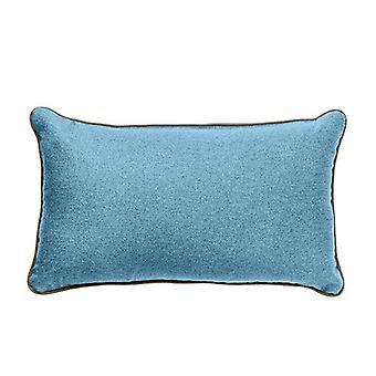 """Weiche Wolle Fühlen 12x20"""" Hollowfibre filled Scatter Sofa Kissen mit kontrastierenden Rohren (Marine)"""