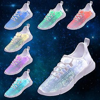 Idee frames Fiber Optic LED Light up schoenen voor vrouwen mannen USB opladen mode...