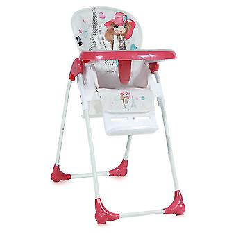 Lorelli children's high chair OLIVER, back rest and height adjustable, rollers, many extras