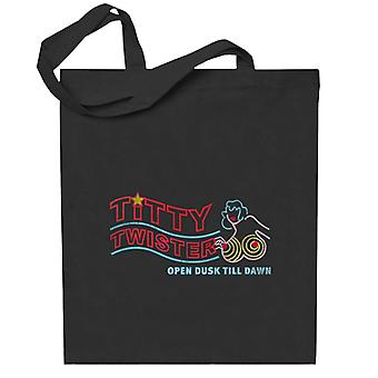 From Dusk Till Dawn Titty Twister Sign Totebag