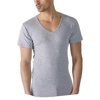 Mey 49107-620 Men's Casual Cotton Grey Solid Colour Short Sleeve Top