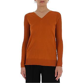 Gentry Portofino D653alg1173 Women's Brown Cotton Sweater