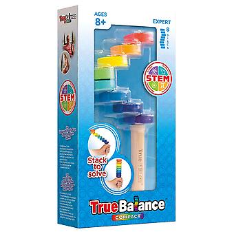 truebalance compact stem balance game with 8 discs multicoloured