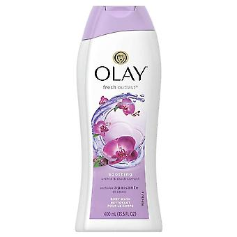 Olay fresh outlast soothing body wash, orchid & black currant, 13.5 oz
