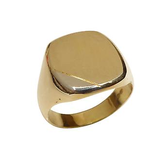 14 carat solid gold cachet ring