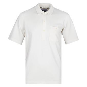 Albam Cotton White Pullover Short Sleeve Shirt