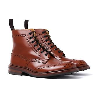 Tricker's Stow Marron Antique Brogue Derby Country Boots