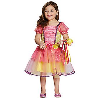 Pink garden Princess flower Princess kinder costume girl