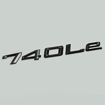Gloss Black 740Le Car Model Rear Boot Number Letter Sticker Decal Badge Emblem For 7 Series