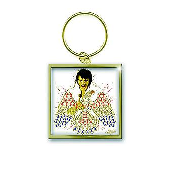 Elvis Presley Keyring Keychain American Eagle Official New Gold