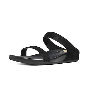 FitFlop Banda™ Opul Slide Women's Slip On Sandals In Black Suede