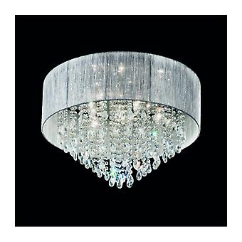 Luce del soffitto cromato in Royale Crystal 7 Bulbi