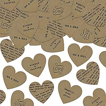 Rustic Confetti Hearts Mix Design 3g Wedding Tables Mr and Mrs Love