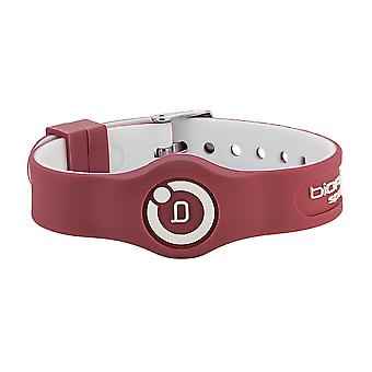 Sport Flex Magnetic Wristband Maroon/White