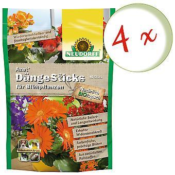Sparset: 4 x NEUDORFF Azet® DüngeSticks für Blühpflanzen, 40 Sticks