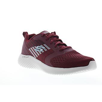 Skechers Bounder Verkona  Mens Red Mesh Athletic Cross Training Shoes