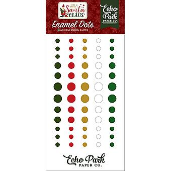 Echo Park Hier komt Santa Claus Emaille Dots