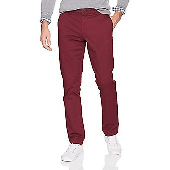 Goodthreads Men's Slim-Fit Washed Stretch Chino Pant, Burgundy, 33W x 36L