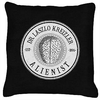 Dr Laszlo Kreizler Sign The Alienist Cushion