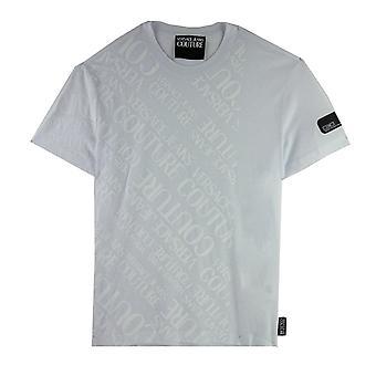 Versace Jeans Couture Écriture Logo Tshirt Blanc