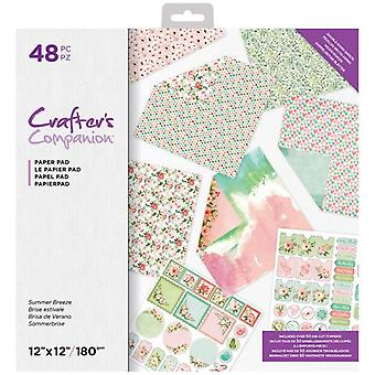 Crafter's Companion Summer Breeze 12x12 Inch Paper Pad