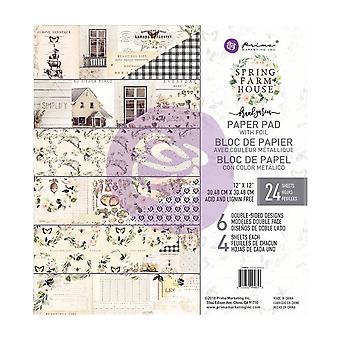Prima Marketing Spring Farmhouse 12x12 Inch Paper Pad