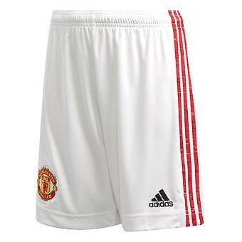 adidas Manchester United 2020/21 Kids Home Football Short White