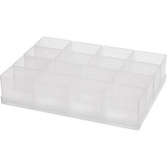 raaco Assortment case insert (Ø x H) 160 mm x 47 mm No. of compartments: 16 1 Set
