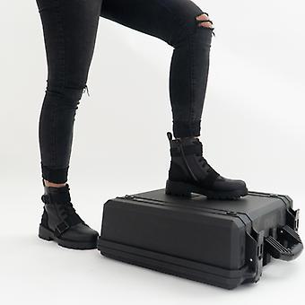 UGG ノエ レディース レザー アンクル ブーツ ブラック