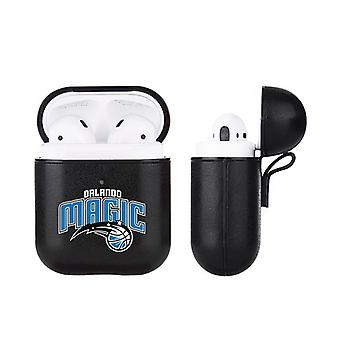 Orlando Magic NBA Fan Brander Zwart Lederen AirPod Case