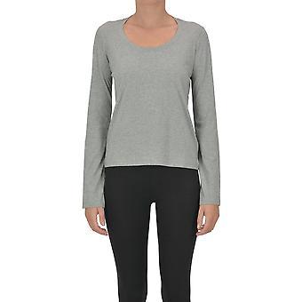 Acne Studios Ezgl151066 Women-apos;s Grey Cotton T-shirt
