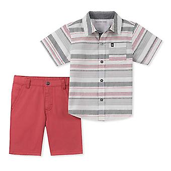 Calvin Klein Boys' kleine 2 Stück Shirt Shorts Set, Multi, 6