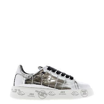 Premiata Belle4900 Dames's Silver Leather Sneakers