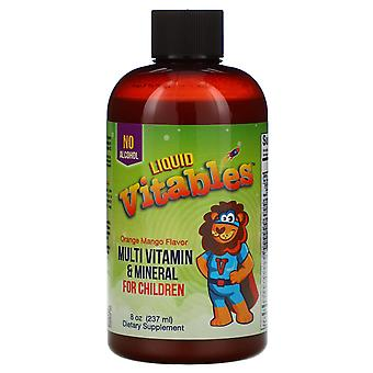 Vitables, Liquid Multi-Vitamin & Mineral For Children, No Alcohol, Orange Mango