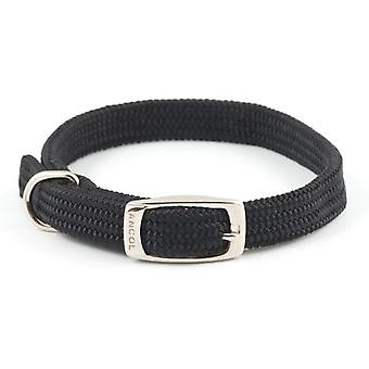 Ancol Soft Weave Collar - Size 1 (12 inch) - Black