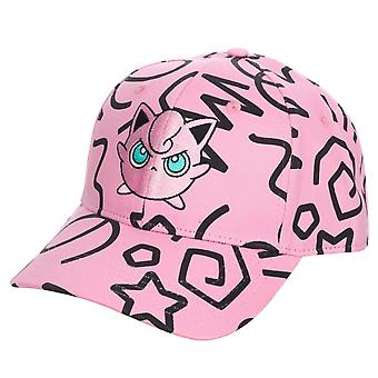 Pokemon Jigglypuff All Over Print Sombrero Snapback precurvado
