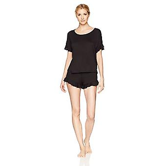 Marque - Mae Women's Sleepwear Ruffled Sleeve Shirt et Short Pajama Se...
