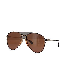 Gucci GG0740S 003 Silver/Brown Sunglasses