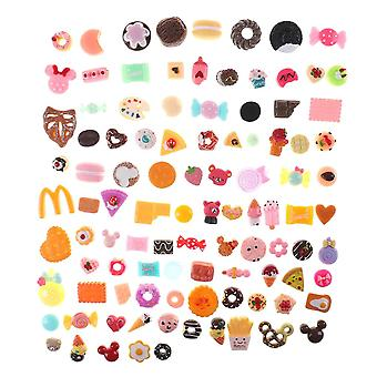 10pcs Mini Food Cakes, Donuts Biscuit Dollhouse Miniature Kitchen Decoration