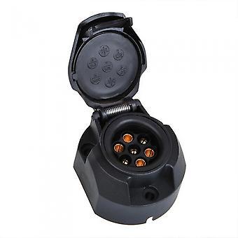 Steckerbox 7+1-polig PVC schwarz in Blister