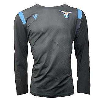 2020-2021 Lazio Pre-Match Half Zip Top (Zwart)