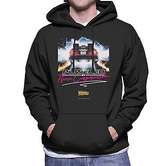 Back to the Future Delorean Powered By Flux Capacitor Men's Hooded Sweatshirt