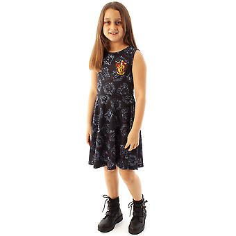 Harry Potter Dress Gryffindor House Crest Girl's Kids Skater Dress