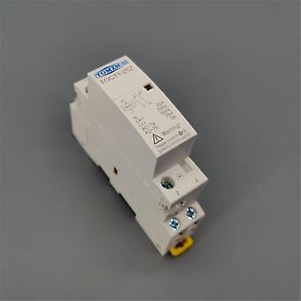 Toct1 2p 25a Dc 12v 24v لفائف 220v/230v 50/60hz Din Rail Ac Modular