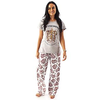 Harry Potter Pyjamas Women Gryffindor House Crest Ladies Top & Loungepant pj set